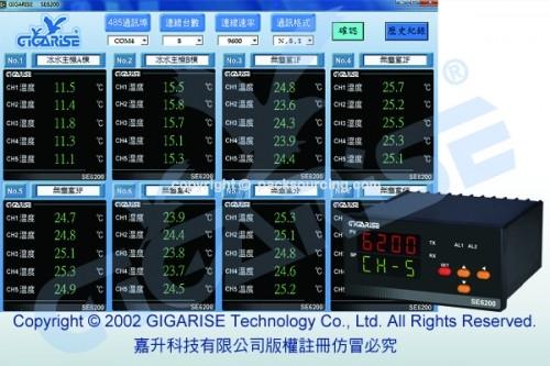 SE6200 溫度計5組輪播顯示複合式控制器