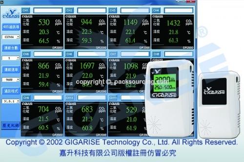 GR2000三色LCD背光空氣品質二氧化碳偵測器偵測,三色LCD背光co2空氣品質二氧化碳偵測器偵測,三色LCD背光溫溼度感測器