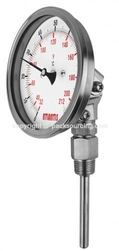 雙金屬溫度計 (可調角型)   BTA