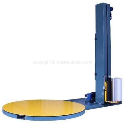 GQW105半自動無預拉膠膜機(機械張力調整)